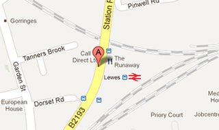 GM Taxis, find us opposite Lewes Train Station